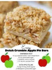 Dutch Crumble Apple Pie Bars