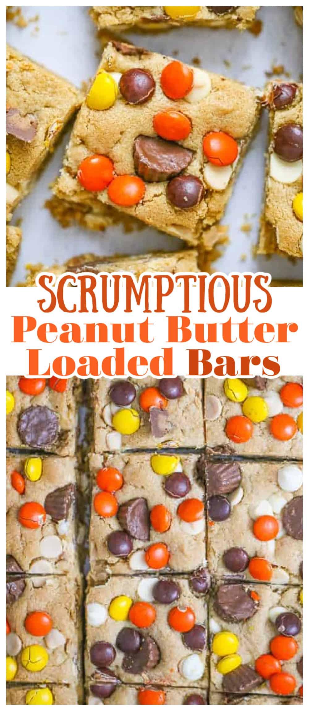 Scrumptious Peanut Butter Loaded Bars