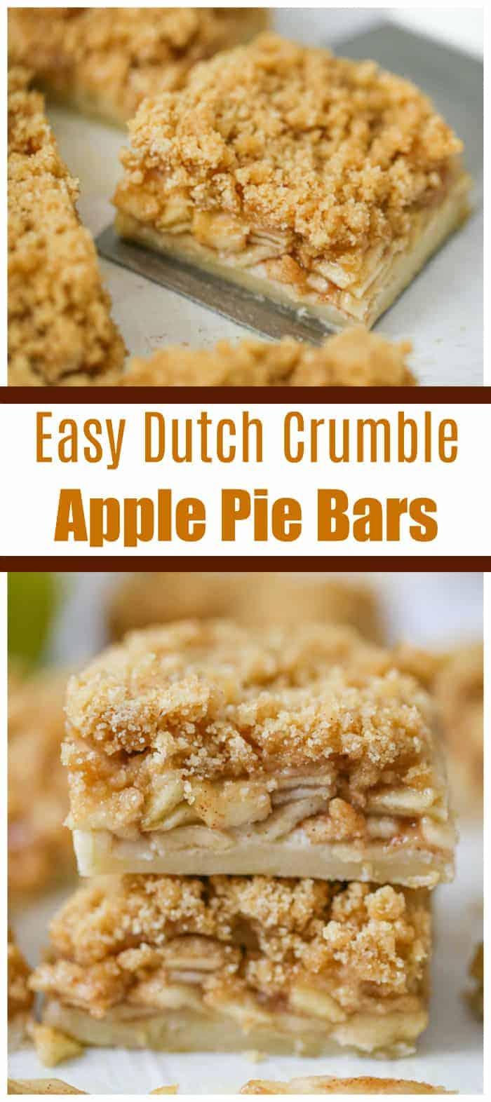 Easy Dutch Crumble Apple Pie Bars