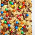 Reese's Peanut Butter Cream Cheese Cookie Bars