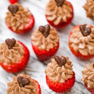 OMG Chocolate Cheesecake Stuffed Strawberries