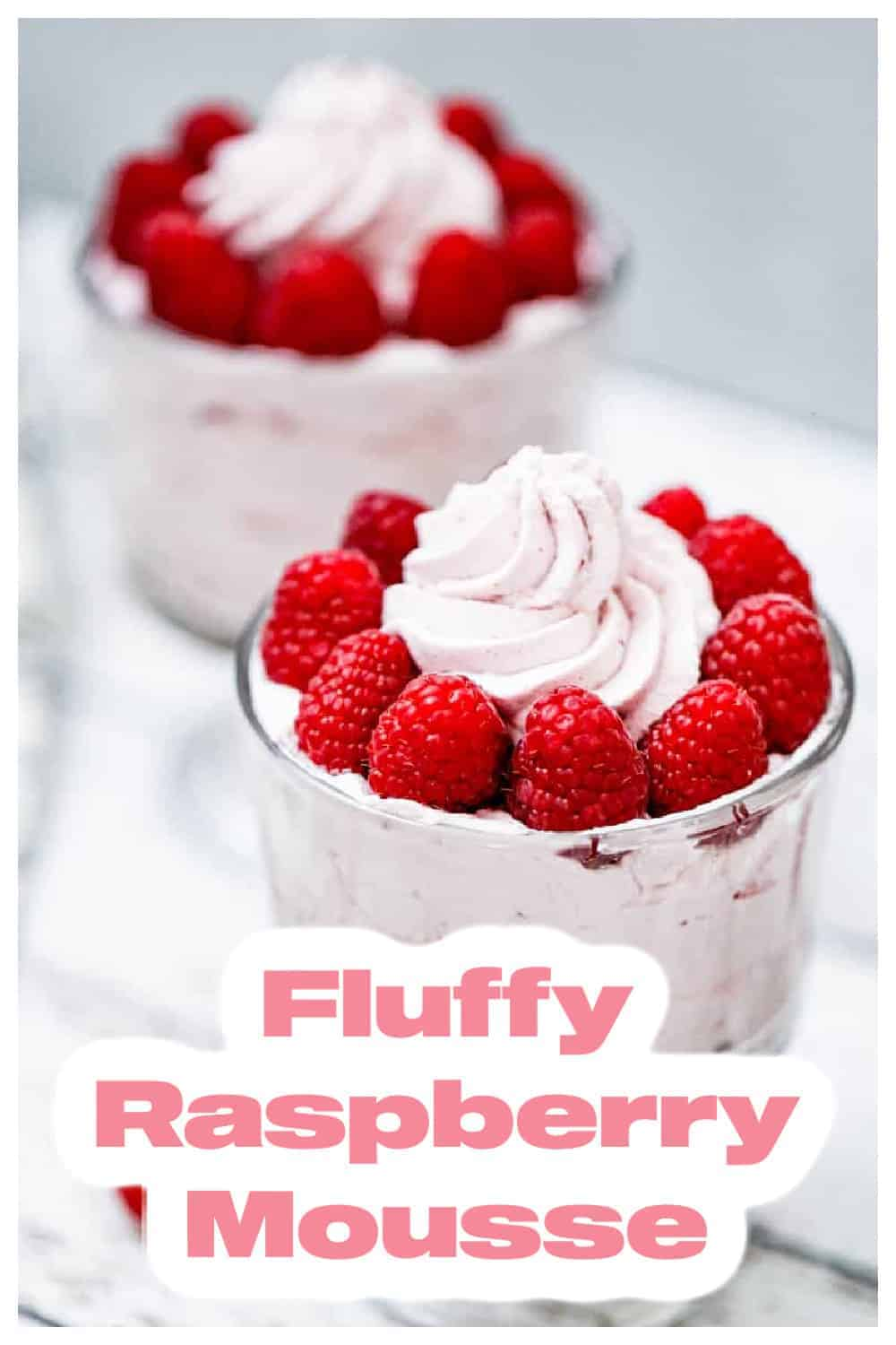 Fluffy Raspberry Mousse – 3 Ingredients of Heaven!