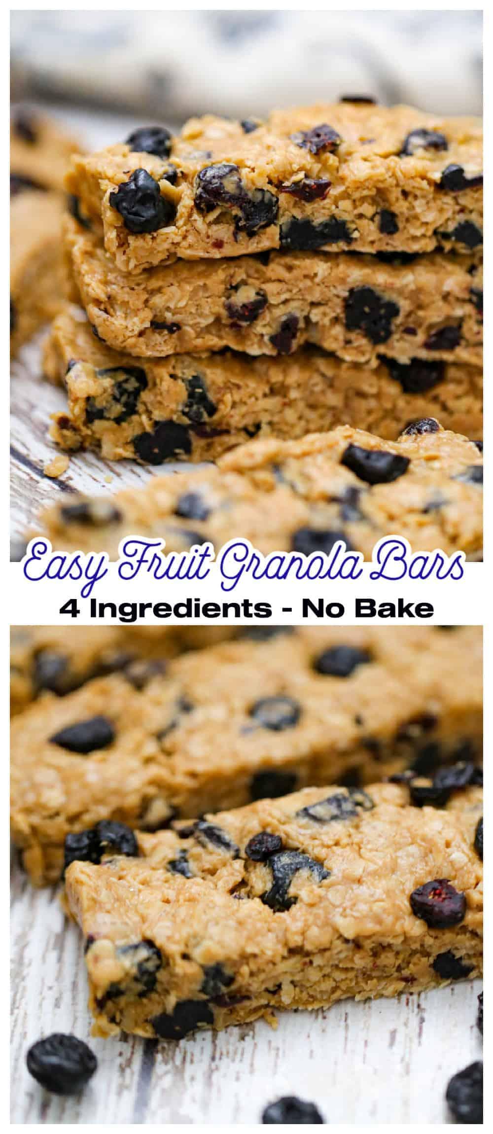 Easy Fruit Granola Bars