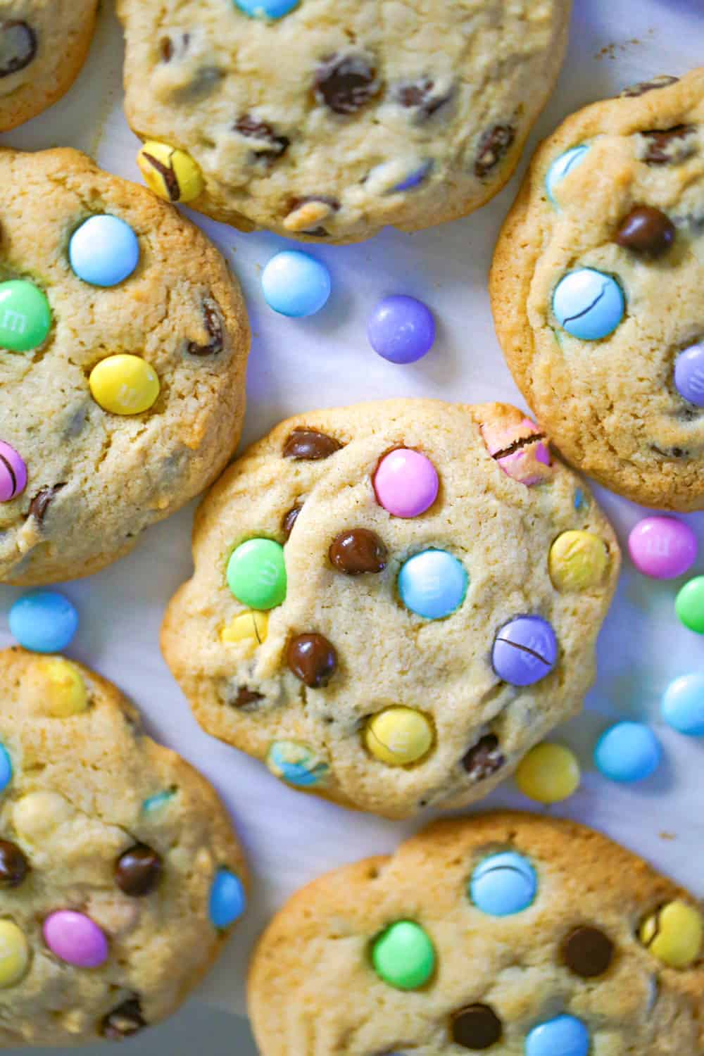 M&M Chocolate Chip Candy Cookies