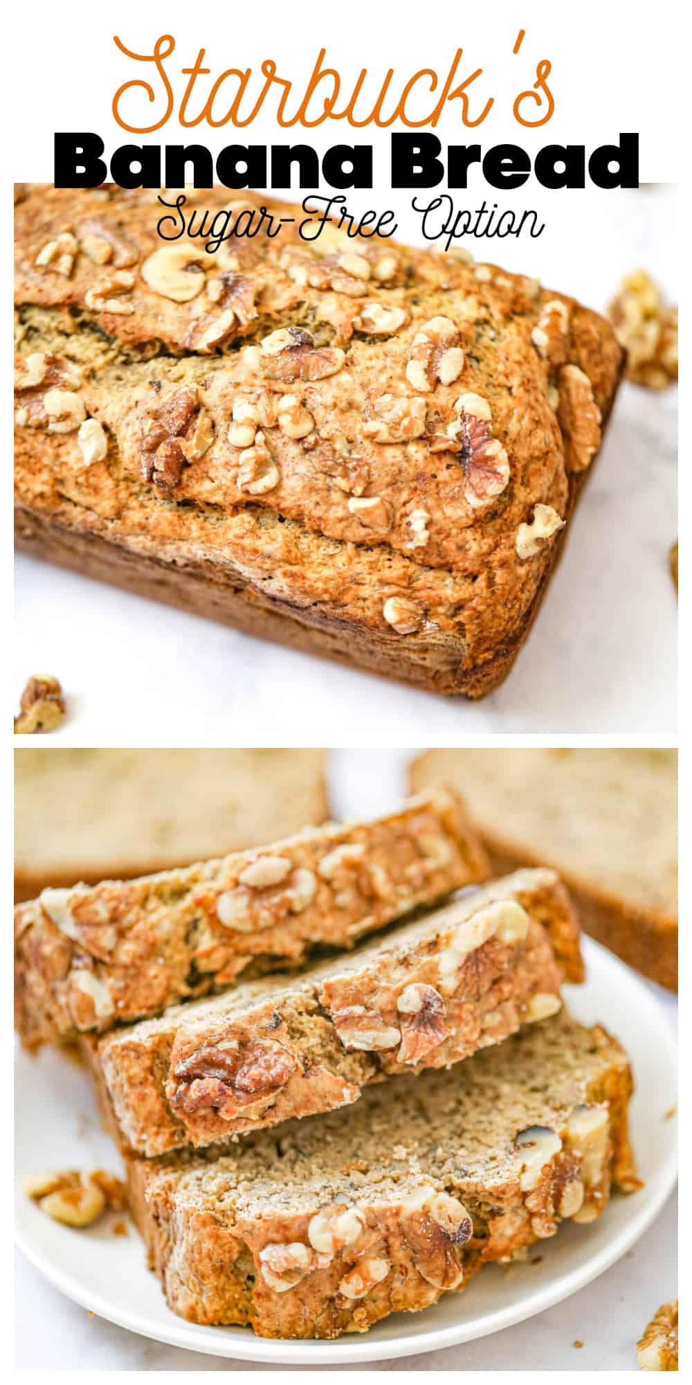 Starbuck\'s Banana Bread - Sugar-Free Option