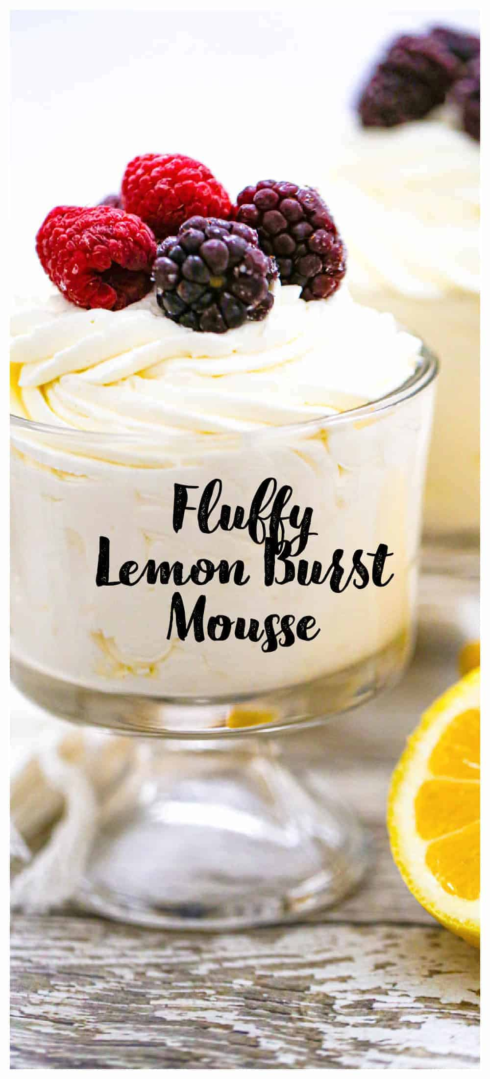 Keto Fluffy Lemon Burst Mousse