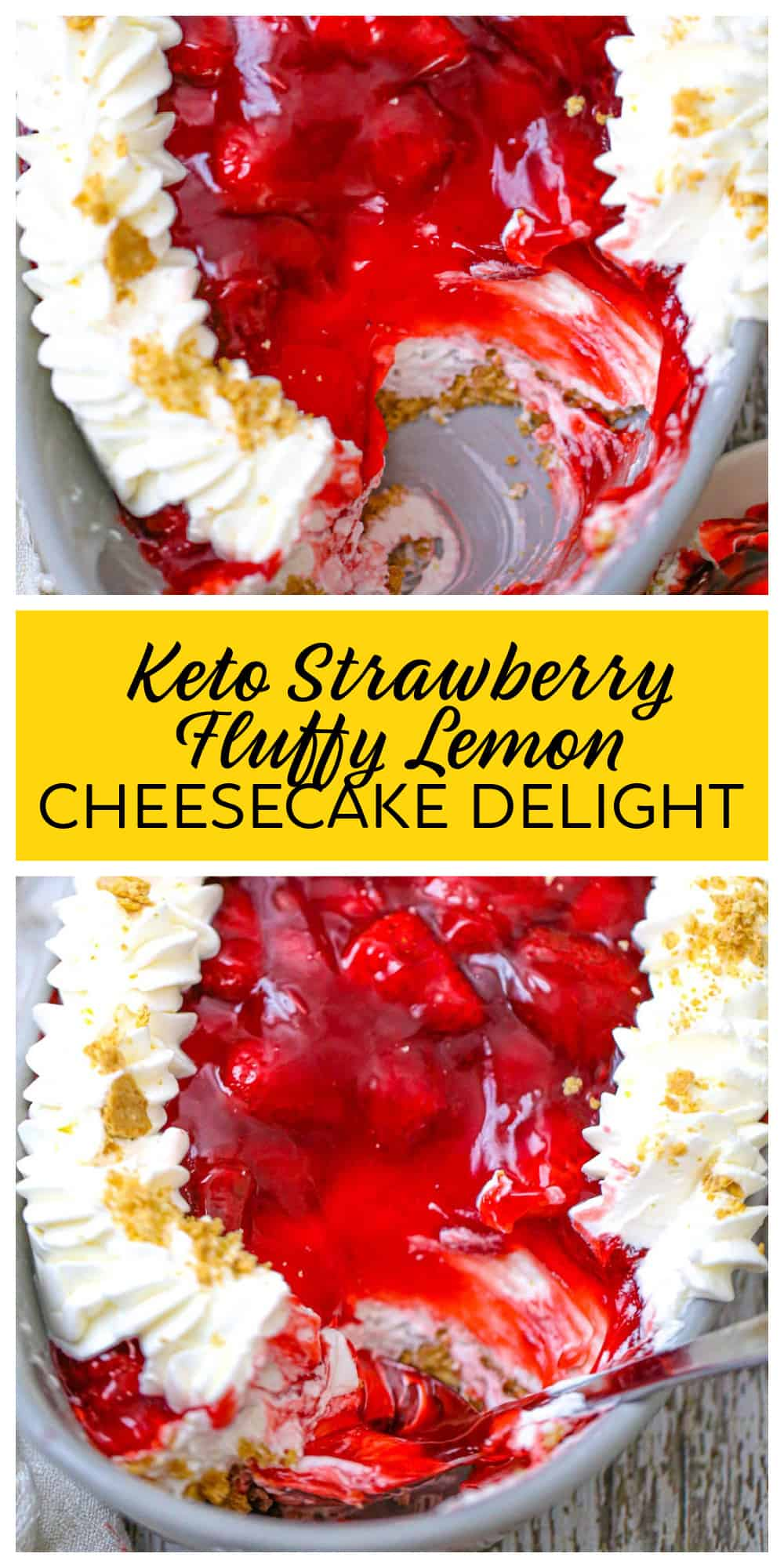 Strawberry Fluffy Lemon Cheesecake Delight
