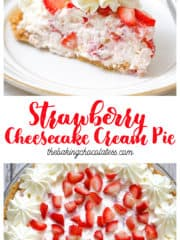 Strawberry Cheesecake Cream Pie