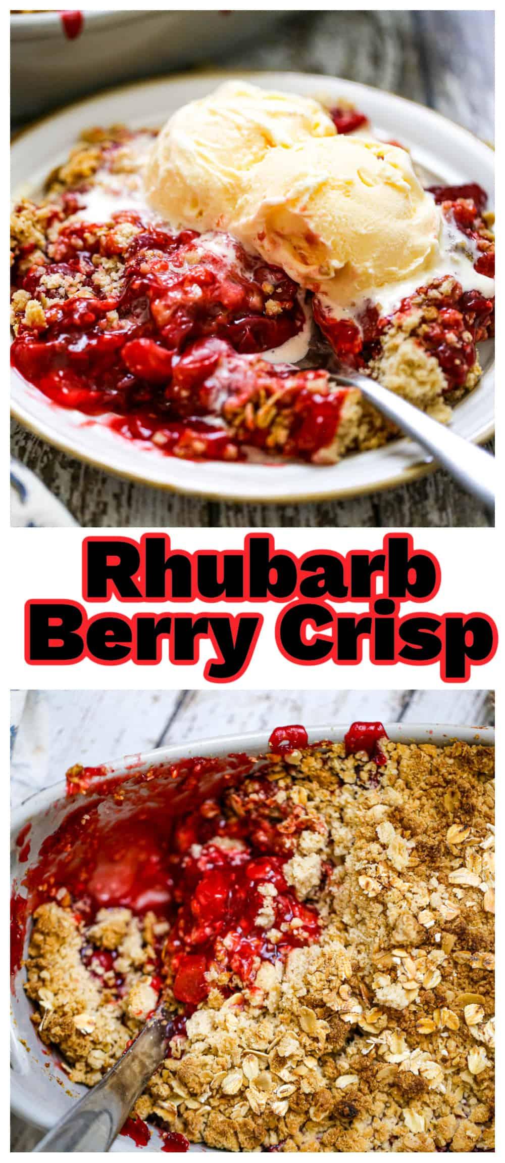 Rhubarb Berry Crisp