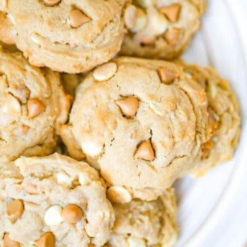 Peanut Butter Butterscotch Chip Cookies