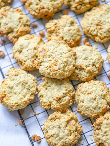 Sugar-Free Oatmeal Cookies with Butterscotch Chips