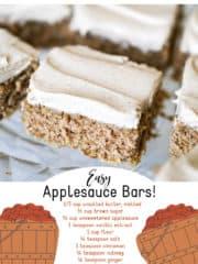 Easy Applesauce Bars