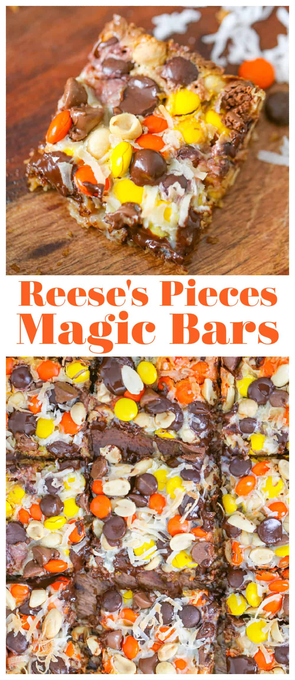 Reese's Pieces Magic Bars