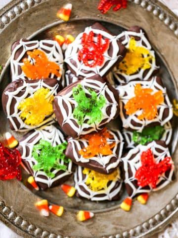 Spider Chocolate Graham Cookies