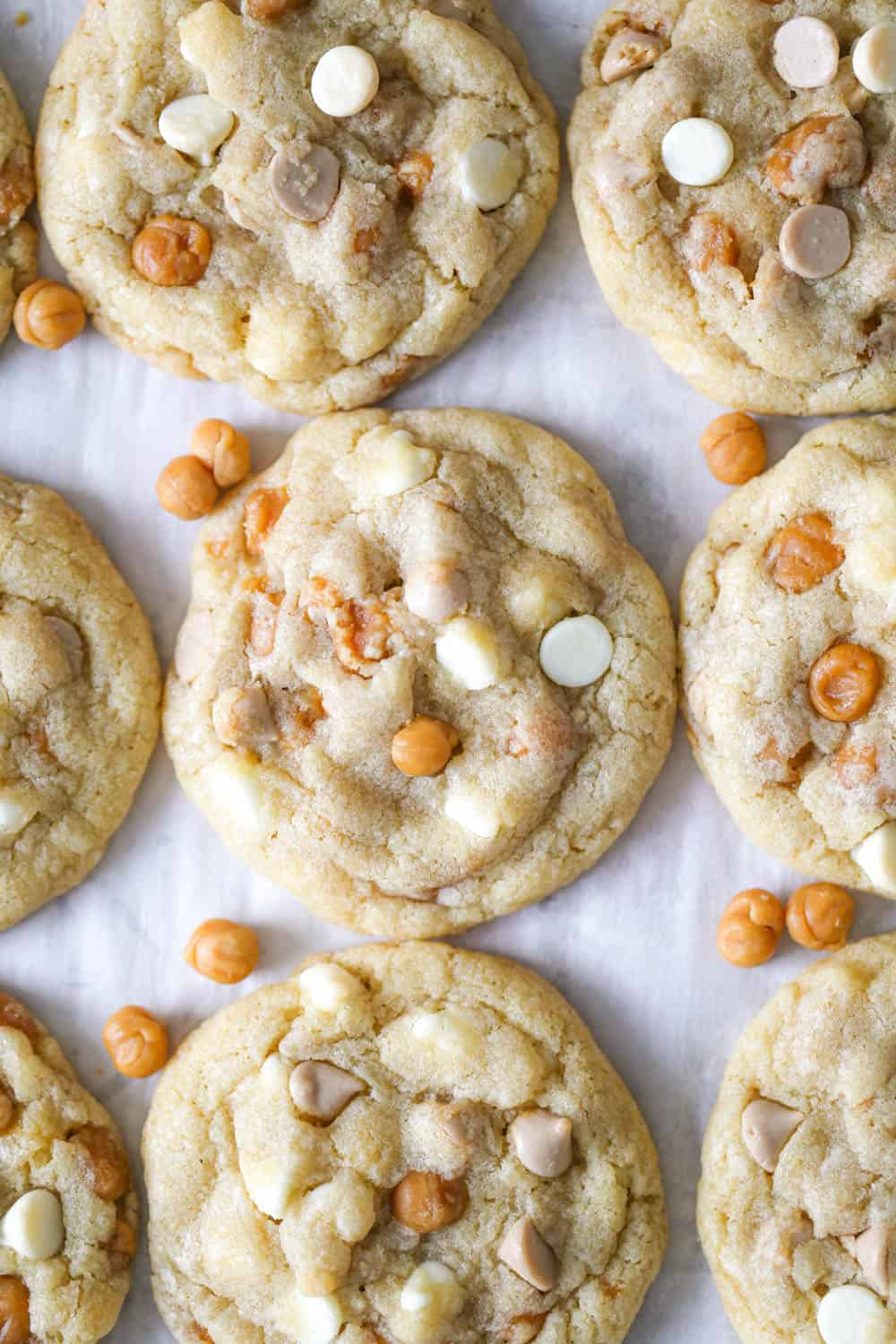Salted Caramel White Chocolate Cookies