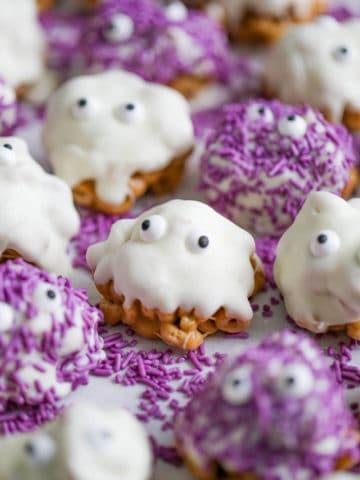 mixture of Halloween Cereal Treats